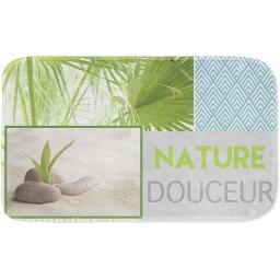 tapis de bain 45 x 75 cm microfibre imprimee nature douceur des. place