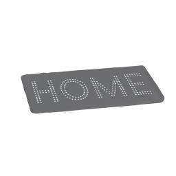 Tapis de bain 45 x 75 cm microfibre unie glitter home Gris