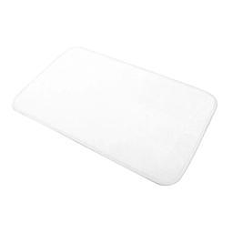 Tapis de bain 45 x 75 cm microfibre unie vitamine Blanc