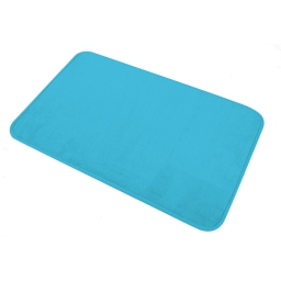 Tapis de bain 45 x 75 cm microfibre unie vitamine Bleu ocean