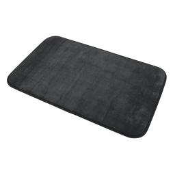 Tapis de bain 45 x 75 cm microfibre unie vitamine Noir