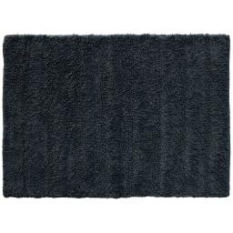 Tapis de bain 50 x 70 cm coton uni essencia Noir