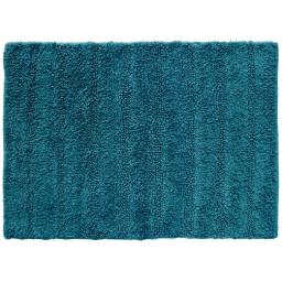 Tapis de bain 50 x 70 cm coton uni essencia Petrole