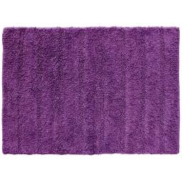 Tapis de bain 50 x 70 cm coton uni essencia Prune