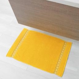 Tapis de bain 50 x 85 cm eponge unie jacquard adelie Miel