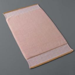 Tapis de bain 50 x 85 cm eponge unie jacquard goldy Rose/or