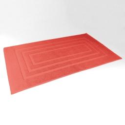 Tapis de bain 50 x 85 cm eponge unie vitamine Corail
