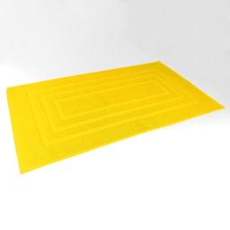 Tapis de bain 50 x 85 cm eponge unie vitamine Jaune