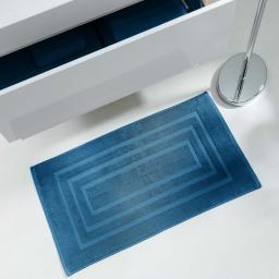 Tapis de bain 50 x 85 cm eponge unie vitamine Petrole