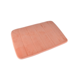 Tapis de bain memoire de forme microfibre 40*60cm vitamine Corail