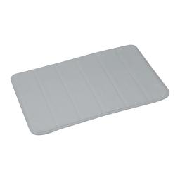 tapis de bain mémoire de forme microfibre 40*60cm vitamine gris clair