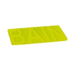 "tapis de bain microfibre relief ""bain"" 45*75cm vitamine anis"