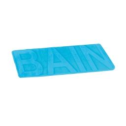 "tapis de bain microfibre relief ""bain"" 45*75cm vitamine bleu ocean"