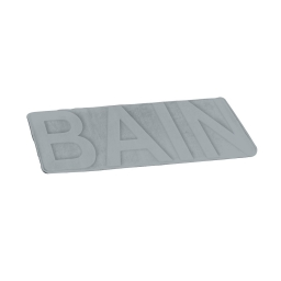 "tapis de bain microfibre relief ""bain"" 45*75cm vitamine gris clair"