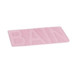 """tapis de bain microfibre relief """"bain"""" 45*75cm vitamine rose poudré"""