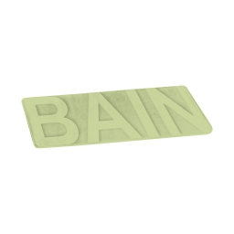"Tapis de bain microfibre relief ""bain""45*75cm vitamine Wasabi"