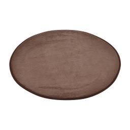 tapis de bain rond microfibre ø60cm vitamine chocolat