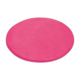 tapis de bain rond microfibre ø60cm vitamine fuchsia