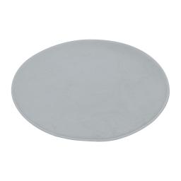 tapis de bain rond microfibre ø60cm vitamine gris clair