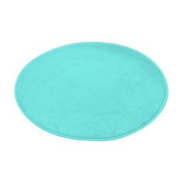 tapis de bain rond microfibre ø60cm vitamine vert menthe