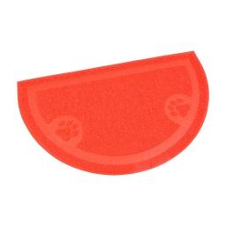 tapis de litiere pvc demi cercle pour chat l36*60cm rouge