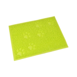tapis de litiere pvc rectangle pour chat l30*40cm vert impressions pattes