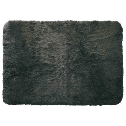 Tapis deco rectangle 120 x 170 cm imitation fourrure marmotte Anthracite