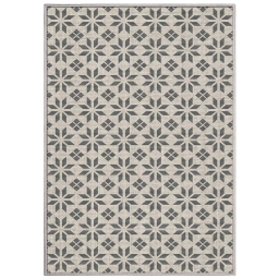 tapis deco rectangle 120 x 170 cm tisse reversible cemento