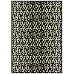 tapis deco rectangle 140 x 200 cm viscose tissee facettes