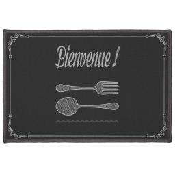 tapis deco rectangle 40 x 60 cm imprime bistronomie