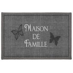 tapis deco rectangle 40 x 60 cm imprime familia