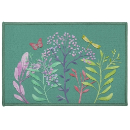 tapis deco rectangle 40 x 60 cm imprime fresh flower