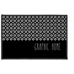 tapis deco rectangle 40 x 60 cm imprime graphic home