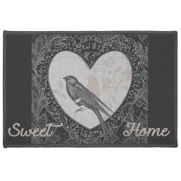 tapis deco rectangle 40 x 60 cm imprime love birds