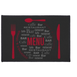 tapis deco rectangle 40 x 60 cm imprime menu