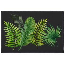 tapis deco rectangle 40 x 60 cm imprime tropical green