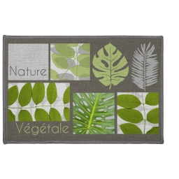 tapis deco rectangle 40 x 60 cm imprime vegetalia