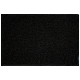 Tapis deco rectangle 40 x 60 cm uni primo Noir