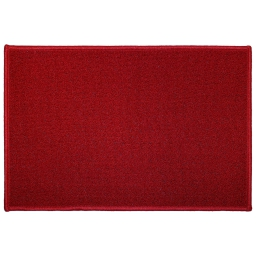 Tapis deco rectangle 40 x 60 cm uni primo Rouge