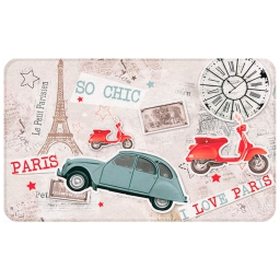tapis deco rectangle 45 x 75 cm antiderapant imprime parisien