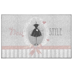 tapis deco rectangle 50 x 120 cm imprime couture