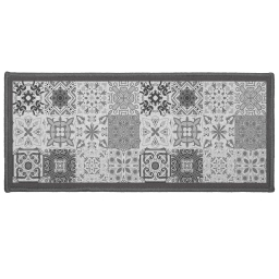 Tapis deco rectangle 50 x 120 cm imprime persane Gris