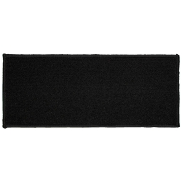 Tapis deco rectangle 50 x 120 cm uni primobis Noir