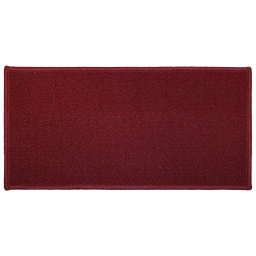 Tapis deco rectangle 50 x 120 cm uni primobis Rouge