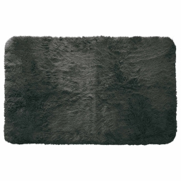 Tapis deco rectangle 50 x 80 cm imitation fourrure marmotte Anthracite