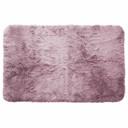 Tapis deco rectangle 50 x 80 cm imitation fourrure marmotte Violine
