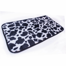 tapis deco rectangle 50 x 80 cm imitation peau de bete feria