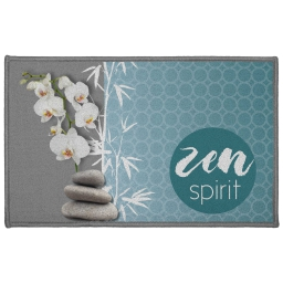 tapis deco rectangle 50 x 80 cm imprime blue zen