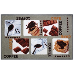 tapis deco rectangle 50 x 80 cm imprime coffee