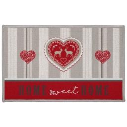 tapis deco rectangle 50 x 80 cm imprime edelweiss